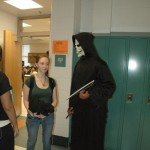 The Grim Reaper takes his next victim outside of class.