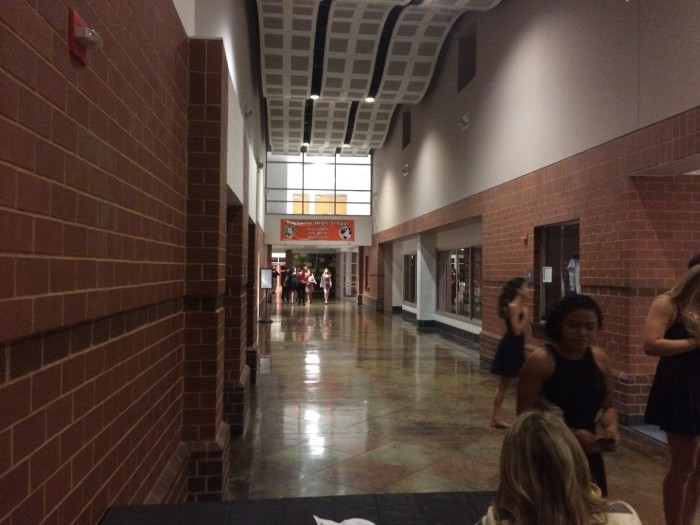Students arriving at the dance.