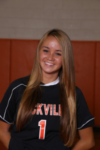 Miller in her soccer uniform. Photo courtesy of the Yearbook staff.