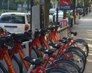 New Capitol BikeShare stations are spread out in many places across Rockville including Twinbrook Park and Rockville Town Square.