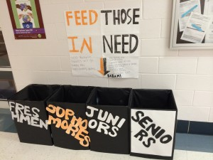 Four designated bins outside the main office were filled with cans for the RHS Canned Food Drive, which was very successful. This year, students collected 309 cans and teachers and clubs donated 87 cans, with a total of 396 cans. --Camila Torres