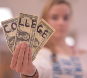 Not all money is earmarked for college as above. Many teenagers are unprepared for the cost of higher education. Yearly college tuition can reach up to $40,000, leaving some graduates in debt for years. --Adam Bensimhon