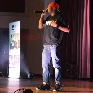 Duane Myko made his debut at RHS Nov. 19. He excited the crowd with music and poetry in his relatable words. --Meklit Bekele