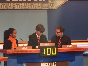 Rockville's It's Academic team at the NBC-4 studios. The teams record is 9-1.