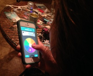 A student plays Trivia Crack from her home. The game has caught on in mass popularity amongst Smart Phone users, including teachers. --Tayor DeAth