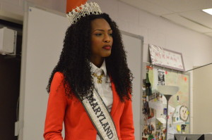 Miss Maryland USA Mam  Adjei came to RHS Feb. 13 to speak to Ambreen Khan-Baker's eighth period class about following their dreams and doing what makes them happy.