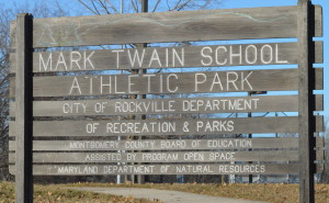 This park, belonging to Mark Twain MS, now known as the Blair G. Ewing Center, is near the site of the proposed bus depot. The middle school holds an alternative-education program that might be moved to another location. --Camila Torres