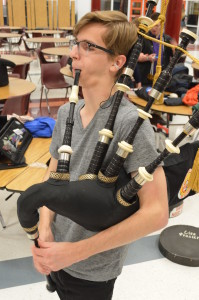 Senior William Shropshire jams out on his signature instrument in hopes of attaining woodwind perfection. --Meklit Bekele