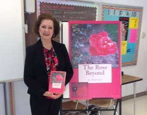 "Freelance writer Sharon Allen Gilder gets to write a lot of different styles. Gilder visited RHS with her novel ""The Rose Beyond,"" pictured above. --Alexander Nagy"