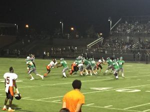 Rockville in a play against WJ. The Rams on defense.