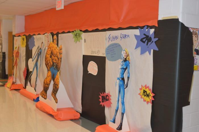 The class of 19' included 3D cutouts of Fantastic 4. members