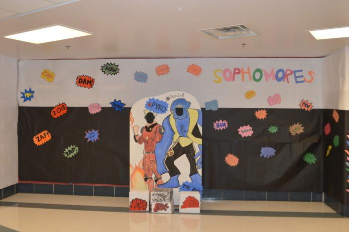 The sophomore class of 18`s theme was the X Men.