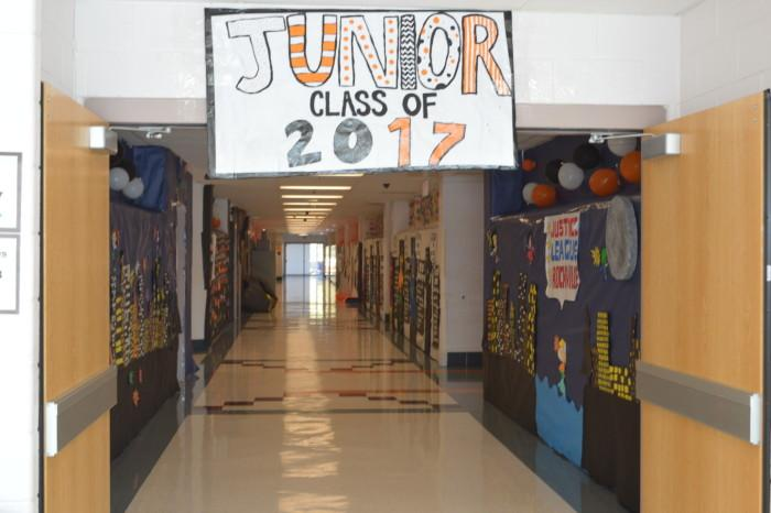 The Junior class of 17' took on a Justice League theme for their hall.