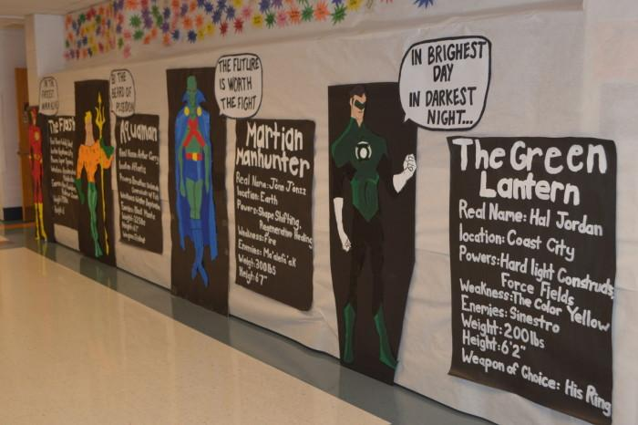 The class of 17' included bios of various Justice League members