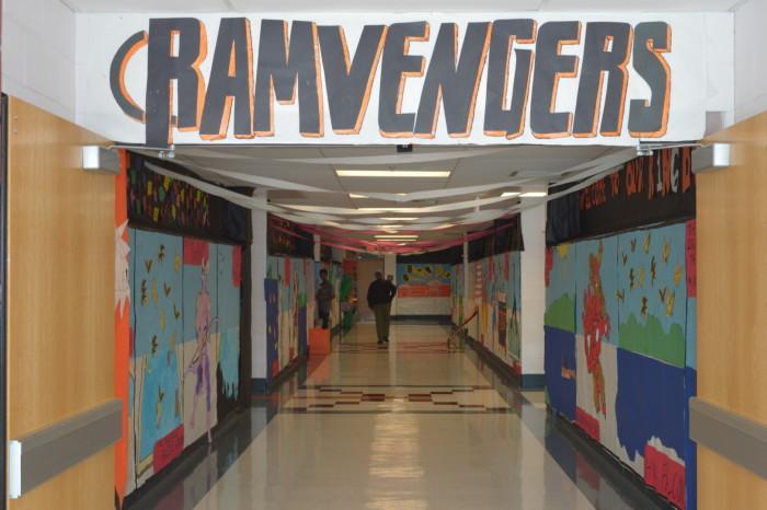 The Senior class of 16' took on an Avengers theme.