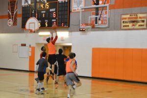 Senior Brandon Geddes goes for the shot